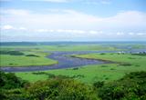 琵琶瀬展望台から望む湿原
