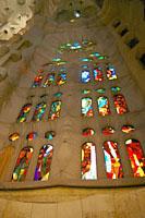 サグラダファミリア内部のステンドグラス