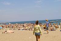 開放的なビーチ